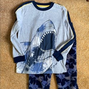 Wonder Nation Shark Long Sleeved PJ Set - S (6/7)